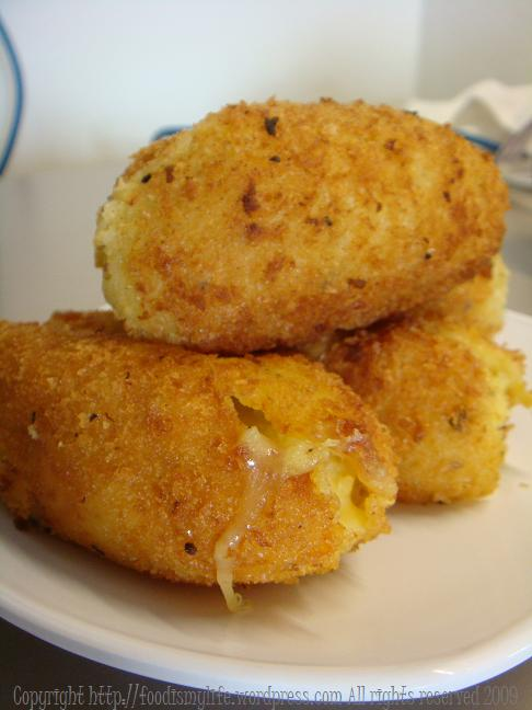Potato and Mozzarella Croquettes