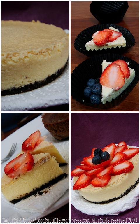 London Cheesecake and Chocolate Cheesecake collage 2