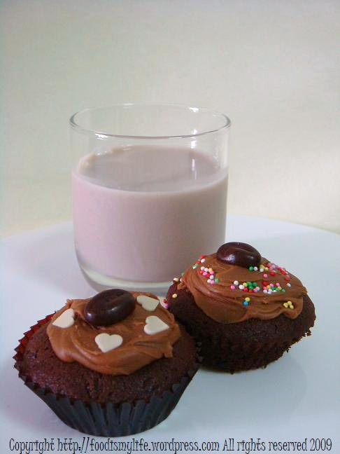 Cappuccino Cupcakes - title