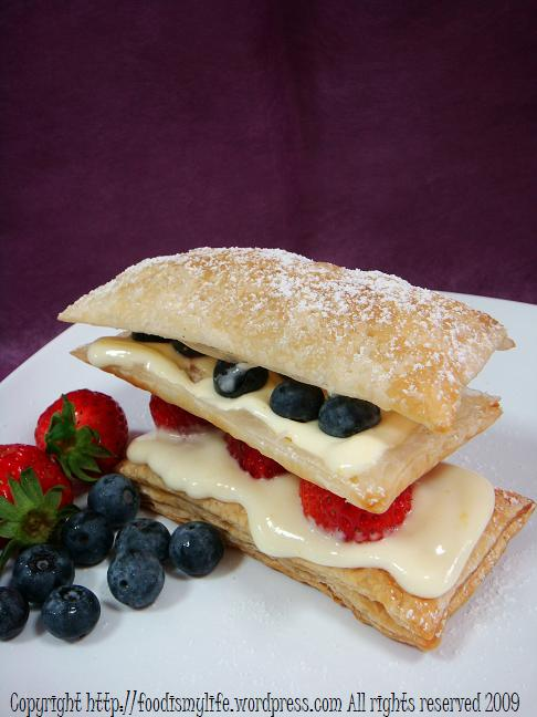 Lemon and Summer Berries Mille Feuilles