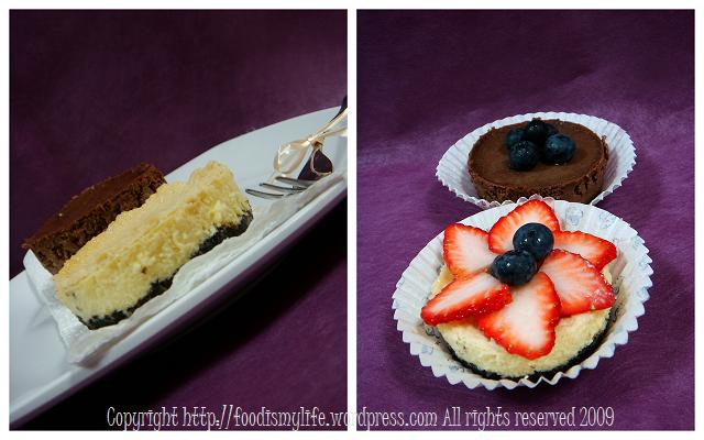 London Cheesecake and Chocolate Cheesecake - asking to be eaten