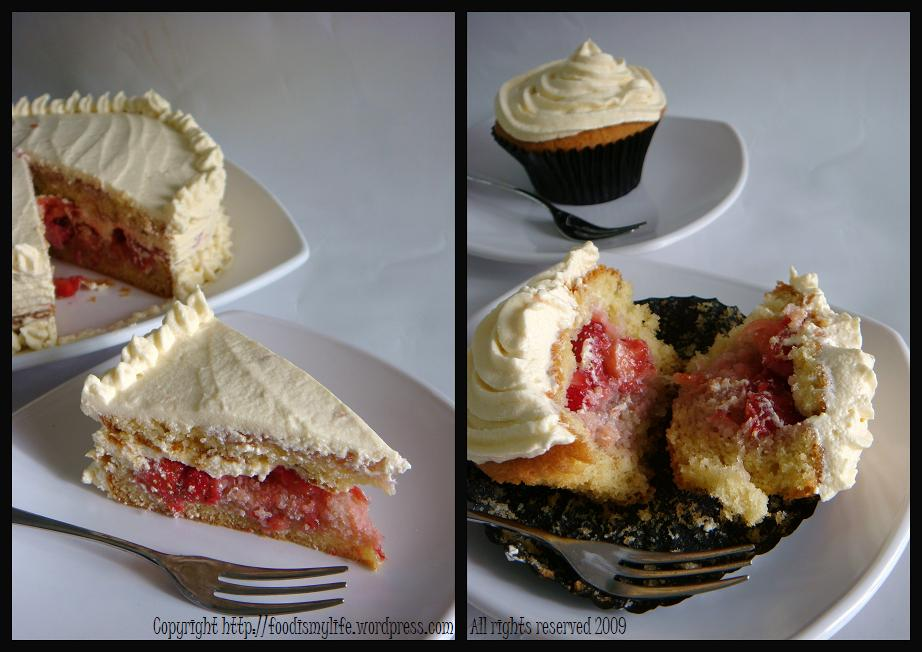 Strawberry Shortcake Cake Cupcake - take a bite
