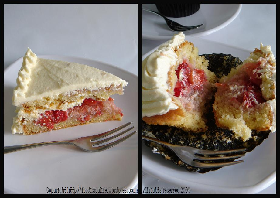 Strawberry Shortcake Cake Cupcake - look closer